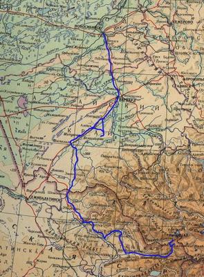 Общая обзорная карта маршрута.