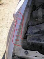Схематически показана схема прохождения шноркеля в крыле - два Г-поворота и одна Р - резиновая труба